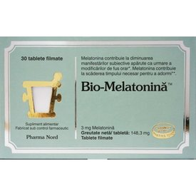 Bio-Melatonină 30 tablete filmate