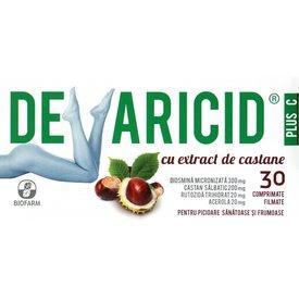 Devaricid Plus C cu extract de castane,30 comprimate filmate