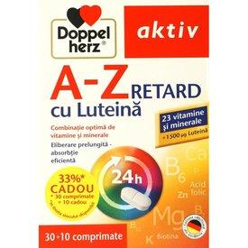 Doppelherz Aktiv A-Z RETARD cu Luteină, 30+10 comprimate