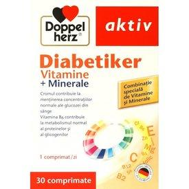 Doppelherz Aktiv Diabetiker, Vitamine+Minerale, 30 comprimate