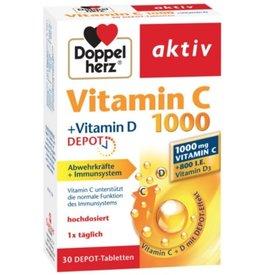Doppelherz Aktiv Vitamina C 1000mg +vitamina D depot 30comprimate