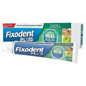 Fixodent Plus Dual Protection Crema Adeziva pentru Proteze Dentare 40g