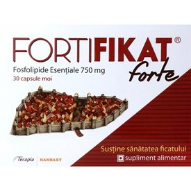 FORTIFIKAT Forte, Fosfolipide Esentiale 750mg, 30 capsule moi