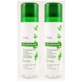 KLORANE Şampon uscat antiseboreic cu urzică 150 ml + 150 ml