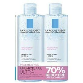 La Roche Posay Apa Micelara Ultra  Piele Reactiva 400ml + 400ml- 70%