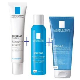 La roche Posay Effaclar DUO+ Tratament corector antiimperfectiuni 40ml+Serozin 50ml+Effaclar gel purifiant 50ml
