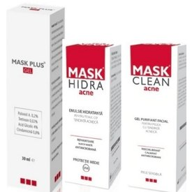 Mask plus gel 30 ml+Mask hidra emulsie 50 ml+Mask clean gel 150 ml