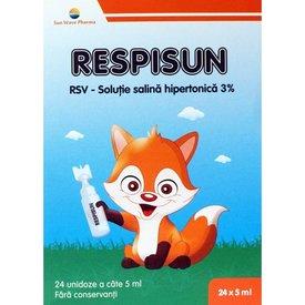 RespiSun soluţie salină hipertonică 24 unidoze