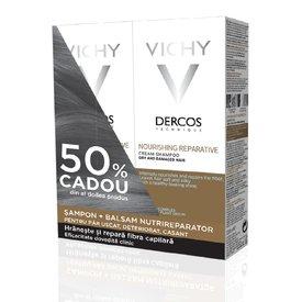 Vichy Dercos Sampon 200ml + Balsam Nutrireparator Par Uscat si Deteriorat 150ml