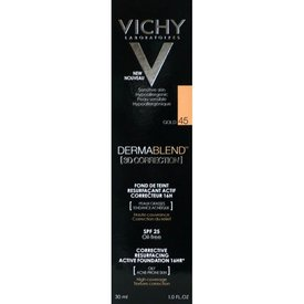 VICHY DERMABLEND 3D Correction, Fond de ten corector 45 (Gold) 30ml
