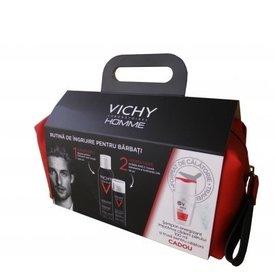 Vichy Homme Spuma Barbierit 200ml + HydraMag C Gel Hidratant Antioboseala 50ml + Sampon Energizant 100ml