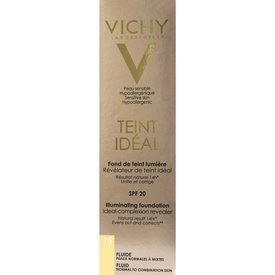 Vichy Teint Ideal Fond de Ten Fluid Nuanţă 15 Ivory Spf 20 30ml