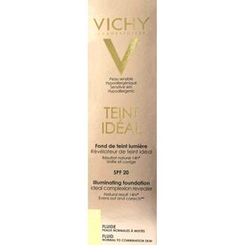 Vichy Teint Ideal Fond de Ten Fluid Nuanţă 25 Sand Spf 20 30ml