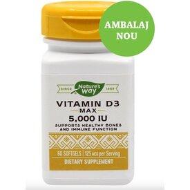 Vitamina D3 5000U.I. 60 capsule