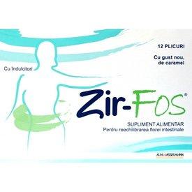 Zir-FOS, pentru echilibrarea florei intestinale, 12 plicuri