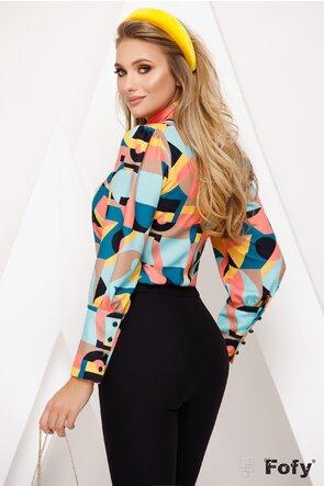Bluza Fofy cu imprimeu grafic multicolor