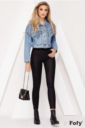Jeans peliculizat din imitatie piele