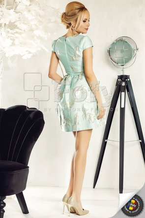 Rochie vernil din brocart cu fluturași 3D