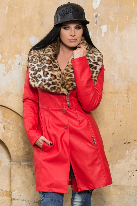 JACHETA DAMA RED QUEEN JACKET IMBLANITA DIN COLECTIA FOGGI REBELLION