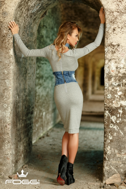 ROCHIE DAMA PORTLAND GREY DRESS DIN COLECTIA FOGGI #STAYROCK