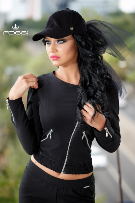 JACHETA DAMA RUN JACKET BLACK DIN COLECTIA FOGGI CELEBRITY ONE