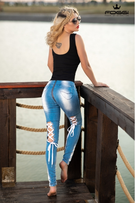 BLUGI DAMA SWEET TOUCH JEANS DIN COLECTIA FOGGI UNSTOPPABLE