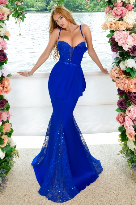 Rochie dama ELECTRIC BLUE QUEEN din colectia foggi The one and only