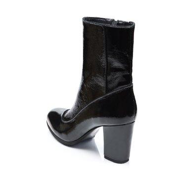 Ghete elegante piele neagra Arina