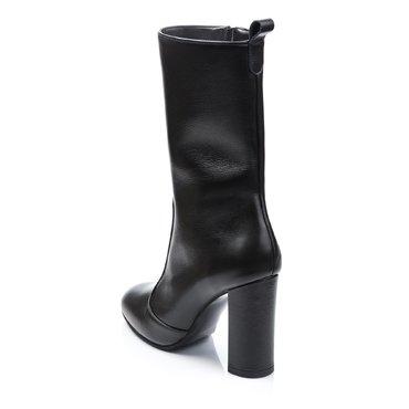 Ghete elegante piele neagra Greta