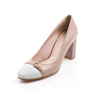 Pantofi bej din piele naturala Dali