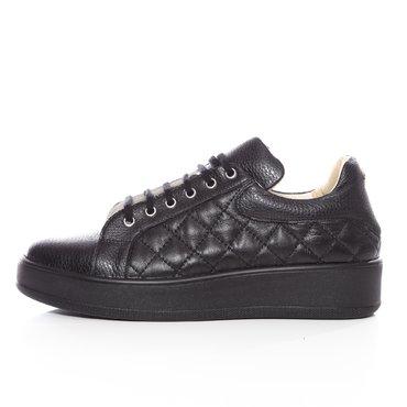 Pantofi casual negrii din piele naturala Alesia