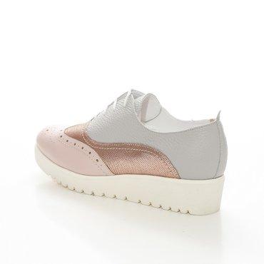 Pantofi de dama nud roze Young Oxford