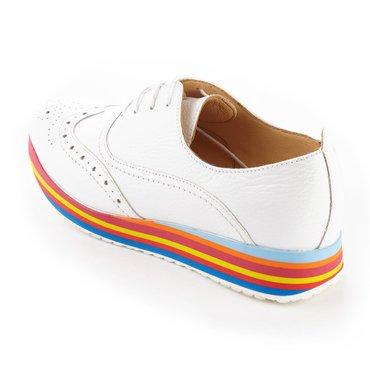 Pantofi de dama piele alba Young Happy