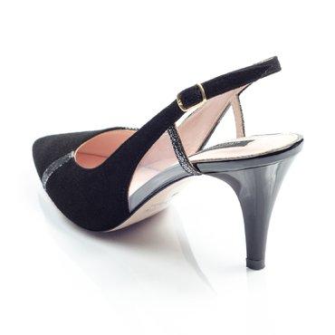 Pantofi de dama piele intoarsa neagra Geox