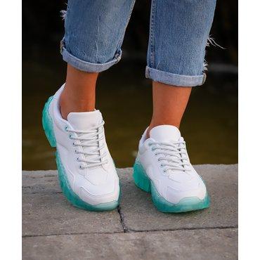 Pantofi de dama sport casual albi Selena