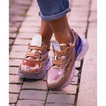 Pantofi de dama sport casual roz Lika