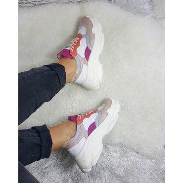 Pantofi de dama sport casual tip sneakers din piele naturala color Adeline