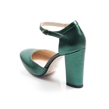Pantofi decupati Ana piele verde smarald