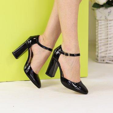 Pantofi decupati lac negru Ana