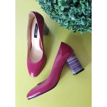 Pantofi din piele naturala siclam  Merci