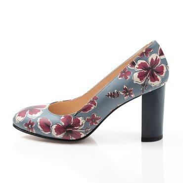 Pantofi gri cu imprimeu floral Joli Confy