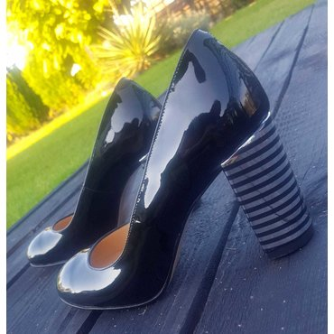 Pantofi lac negru Joly Confy