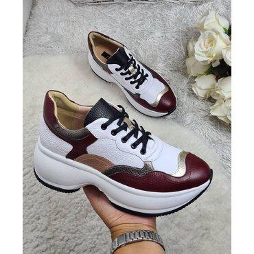 Pantofi sport din piele naturala Lia