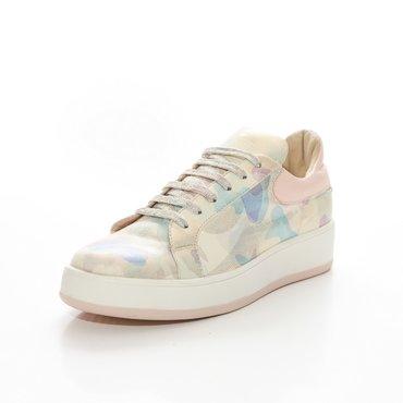 Pantofi sport imprimeu army din piele naturala Alesia