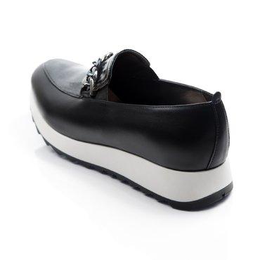 Pantofi sport piele neagra Klara cu accesoriu