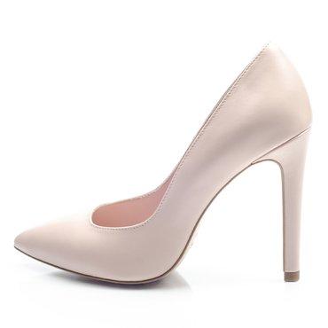 Pantofi stiletto trend piele roz pudra