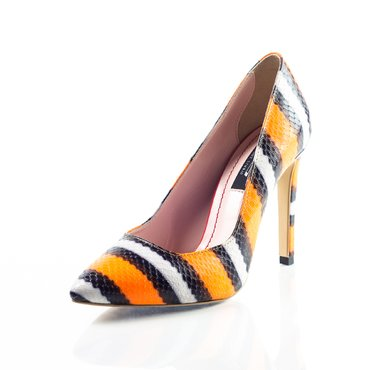 Pantofi stiletto trend print cameleon