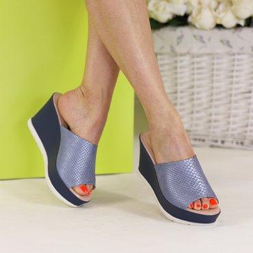 Saboti tip papuc albastri Kloe