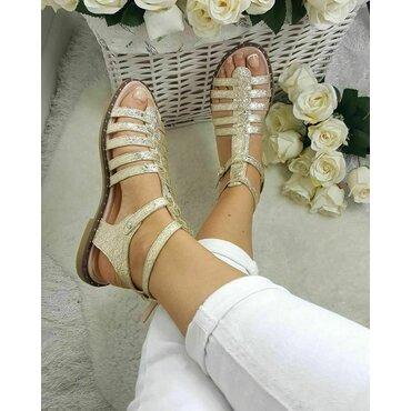 Sandale dama aurii Linda