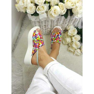 Sandale dama din piele colorata Moza